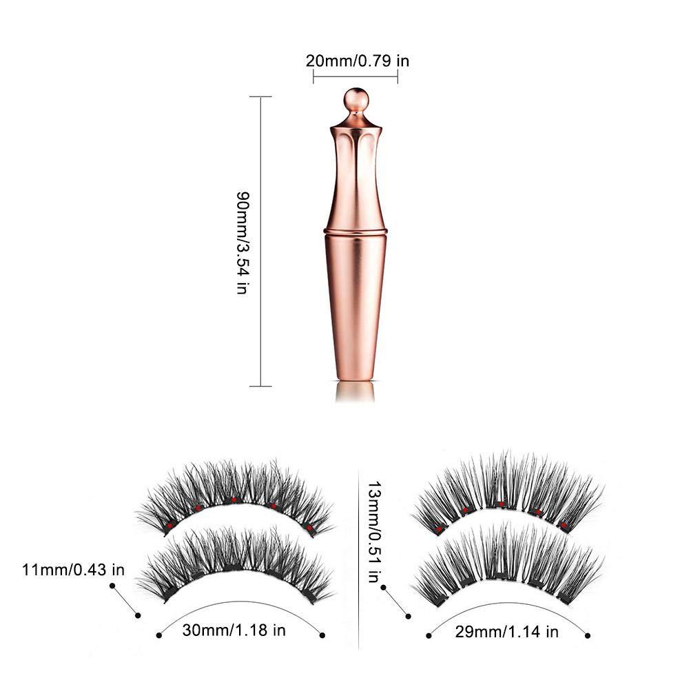 Magnetic False Eyelashes No Glue Full Eye 5 Magnet Reusable Fake Eyelashes Natural Soft Eyelashes Extension Magnetic Eyelash Kit 2
