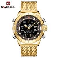 NAVIFORCE orologio da uomo Top Luxury Brand uomo Sport militare orologi da polso al quarzo orologio digitale a LED in acciaio inossidabile Relogio Masculino