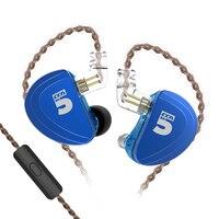 CCA A10 Earphones 5 Balanced Armature Driver In Ear Earphone HIFI Bass Monitor Earphone Earbuds With 2pin Cable KZ AS10 KZ BA10