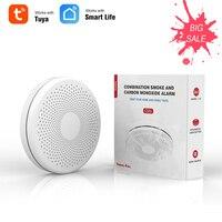 Tuya Smart WiFi Rauch Kohlenmonoxid Sensor Home Feuer Detektor Rauch Alarm Sensor APP Remote Überwachung Hause Luft Umwelt