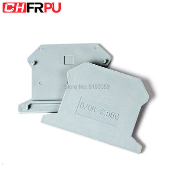 D-2.5 UK1.5 2.5 Terminal Block End Cover Plate Din Rail Terminal Blocks accessories image