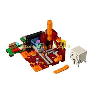 Image 2 -  417pcs my world the nether hell portal building blocks 3   21143 Bricks Toy