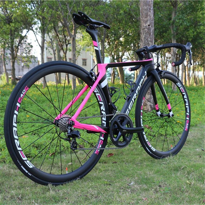 Full Carbon Aero Road Complete Bike 22 Speed Shiman0 R7000 BB71 Press In Bottom Bracket 1423 Spoke R8000 Pink Complete Bike TT-X