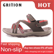GRITION Women Sandals Summer Sport Flat Breathable Beach Shoes Outdoor Footwear New Brand Designers Hiking Trekking Sandals 2020