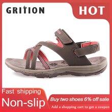 GRITION kadın sandalet yaz spor düz nefes plaj ayakkabısı açık ayakkabı yeni marka tasarımcıları yürüyüş Trekking sandalet 2020