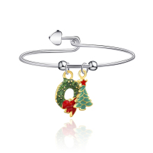 Trend Cute Colorful Christmas Wreath Christmas Tree For Women Children's Christmas Bracelet Alloy New Bracelet Jewelry Best Gift new alloy gorgeous fashion christmas theme snowman cane santa claus color pendant bracelet bracelet christmas best gift jewelry