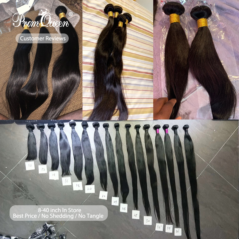 Promqueen    Bundles Straight 8-40inch 100%   Bundles Natural Color  Hair s 3