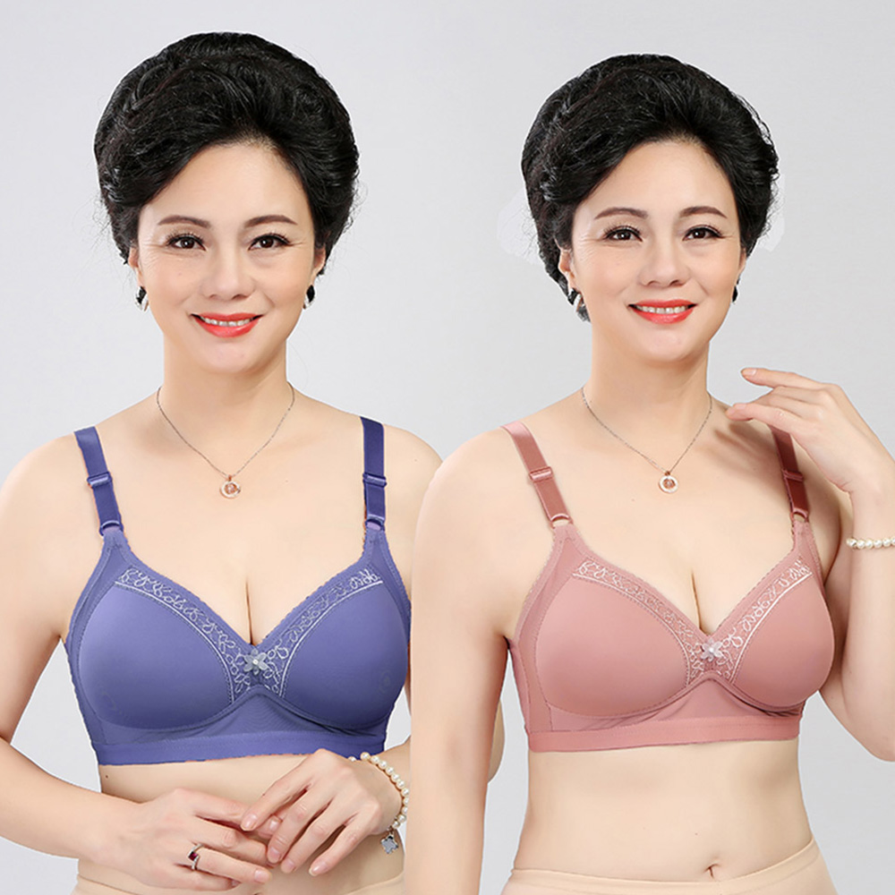 Womens Bra Wireless Comfortable Push Up Brassiere Sexy Lingerie Light Padded Bralette Underwear 75 80 85 90 95 100 105 A B C Cup 2