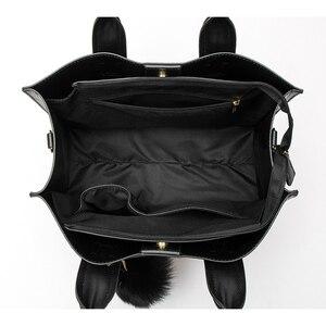 Image 5 - MIYACO Women Bag Leather Handbag Designer Tote Bags Female Elegant Crossbody Bags Ladies Hand Bags with Tassel&Furry ball