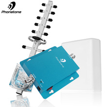 WCDMA 2100MHz mobil sinyal güçlendirici seti kazanç 62dB (LTE Band 1) 2100 UMTS 3G (HSPA) 3G UMTS hücresel tekrarlayıcı amplifikatör ev