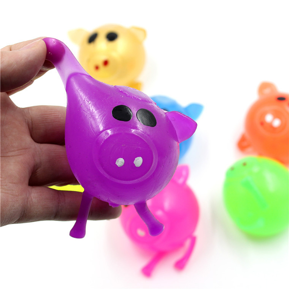 Stress Relief Decor Jello Pig Cute Anti Stress Splat Water Pig Ball   Venting Sticky Squeeze Toy OrnamentsVenting Sticky Toys