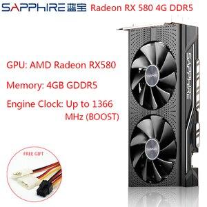 Image 1 - Sapphire AMD Radeon RX 580 4GB Thẻ Chơi Game Video Thẻ RX580 256bit 4GB GDDR5 PCI Express 3.0 Máy Tính Để Bàn Dùng RX580