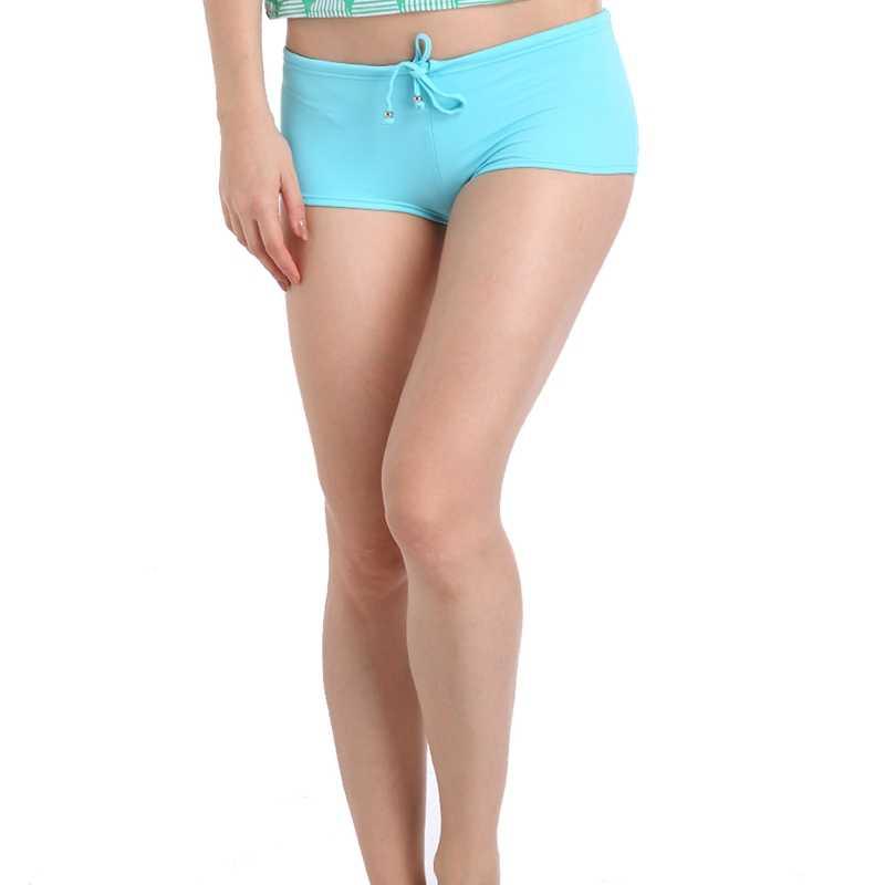 Swimmart Merek Nilon Bikini Bottom 2019 Adjustable Dasi Berenang Celana untuk Anak Perempuan Sepenuhnya Dilapisi Wanita Baju Renang Berenang Batang Dropshipping