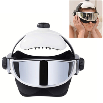Electric Head Neck Massager Far Infrared Heating Vibration Eye Mask Massage Air Pressure Muscle Stimulator Health Care
