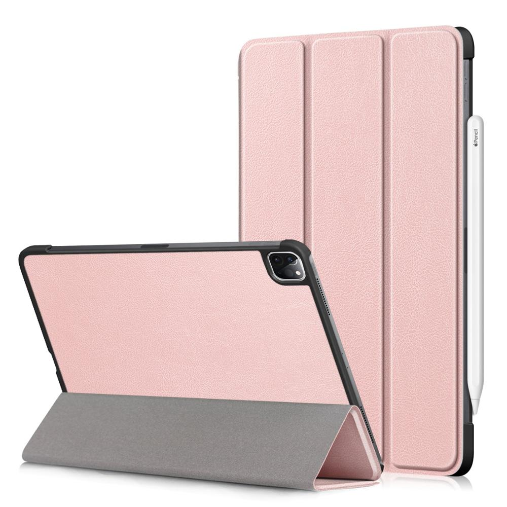 Rose Gold Yellow PU Leather Foldable Stand Case for iPad Pro 11 2020 Case Cover for Apple iPad Pro