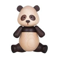 Handmade Beech Wood Panda Living Room Decoration Art Craft Toy Birthday Gift Doll Wooden Panda