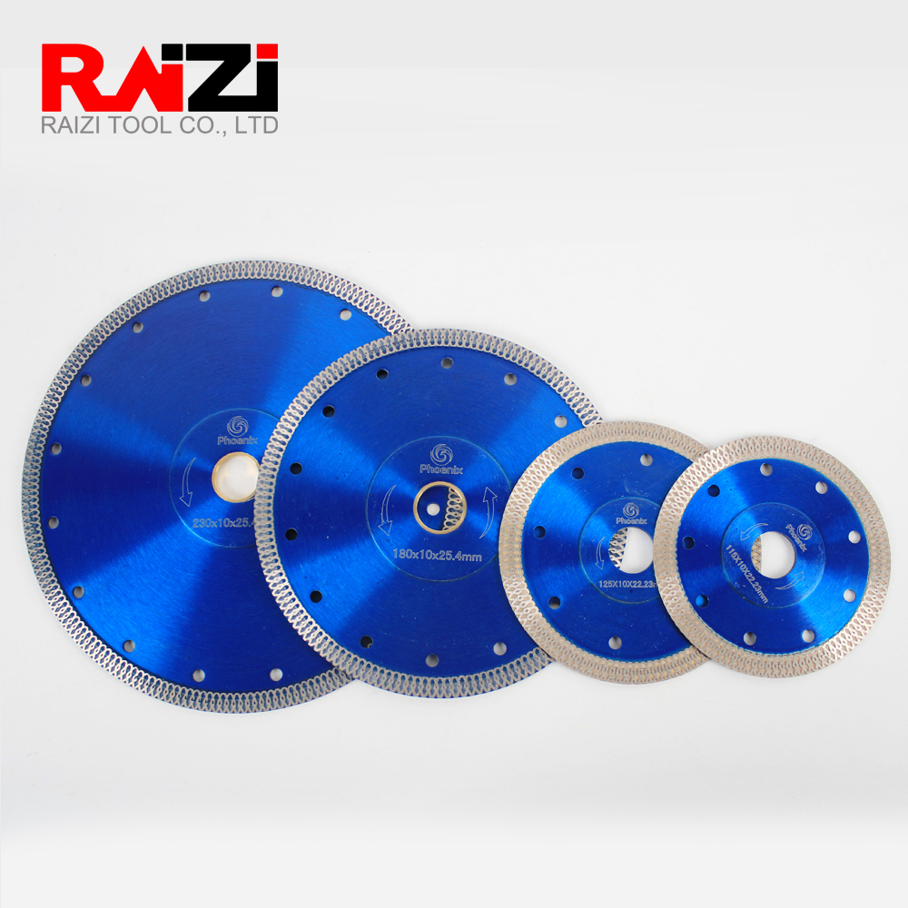 Raizi 115/125/180/230 Mm Diamond Saw Blade Porcelain Ceramic Tile Cutting Disc Blade