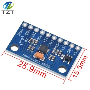 Image 2 - MPU 9250 GY 9250 9 achsen sensor modul I2C/SPI Kommunikation Thriaxis gyroskop + triaxialaufnehmer + dreiachsigen magnetfeld