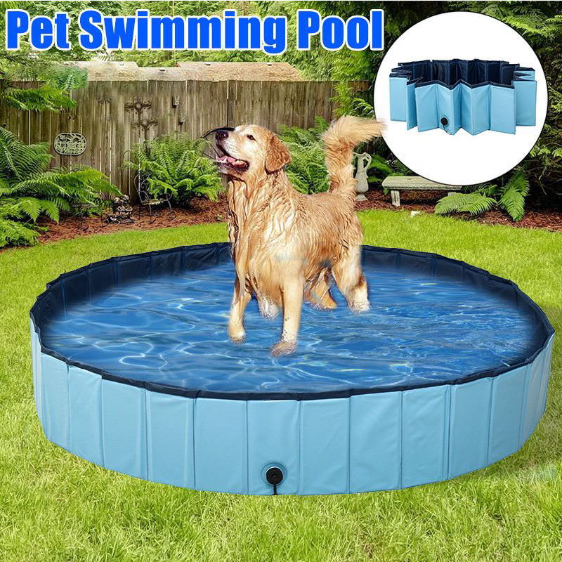 Pet Dogs Swimming Foldable Bathing Pool Tub Paddling Puppy Indoor Shower Bathtub Outdoor Pond For Summer Pets Cat Children Kids