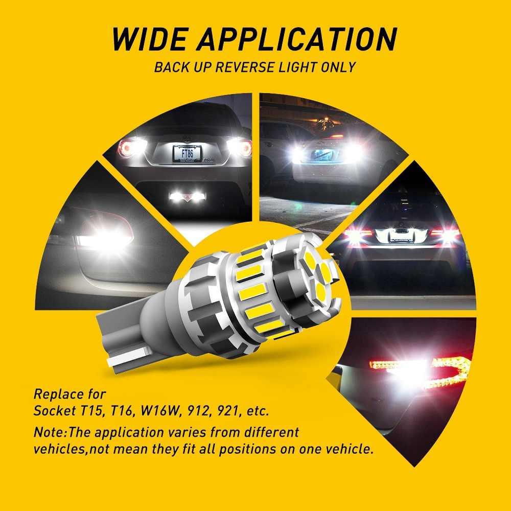 2 sztuk T16 T15 W16W żarówka LED Canbus światło wsteczne do samochodu żarówka dla Mitsubishi Lancer 9 10 I200 ASX Pajero 4 nissan tiida Sentra Teana