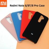 XIAOMI-Funda de silicona líquida Redmi Note 8/8 Pro 8T, Original, suave y sedosa, para teléfono mi Note 8 Pro