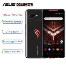 Asus rog phone zs600kl versão global, smartphone 8gb ram 128/512 rom snapdragon™845 nfc android 8.1 ota atualização ota 4000mah