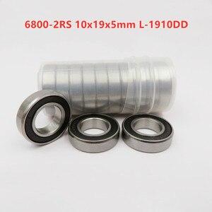 50 шт./100 шт. 6800-2RS 10*19*5 мм L-1910DD 61800-2RS резиновые герметичные тонкие стеновые Глубокие шаровые подшипники 6800RS