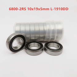 50 sztuk/100 sztuk 6800-2RS 10*19*5mm L-1910DD 61800-2RS gumowe uszczelnione cienka ściana łożyska kulkowe głębokorowkowe 6800RS