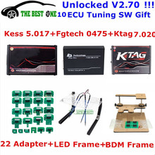 V7.020 Bdm-Frame Ecu-Programmer Kess OBD2 K-TAG Tuning-Kit Fgtech 22pcs-Adapter LED V2.53