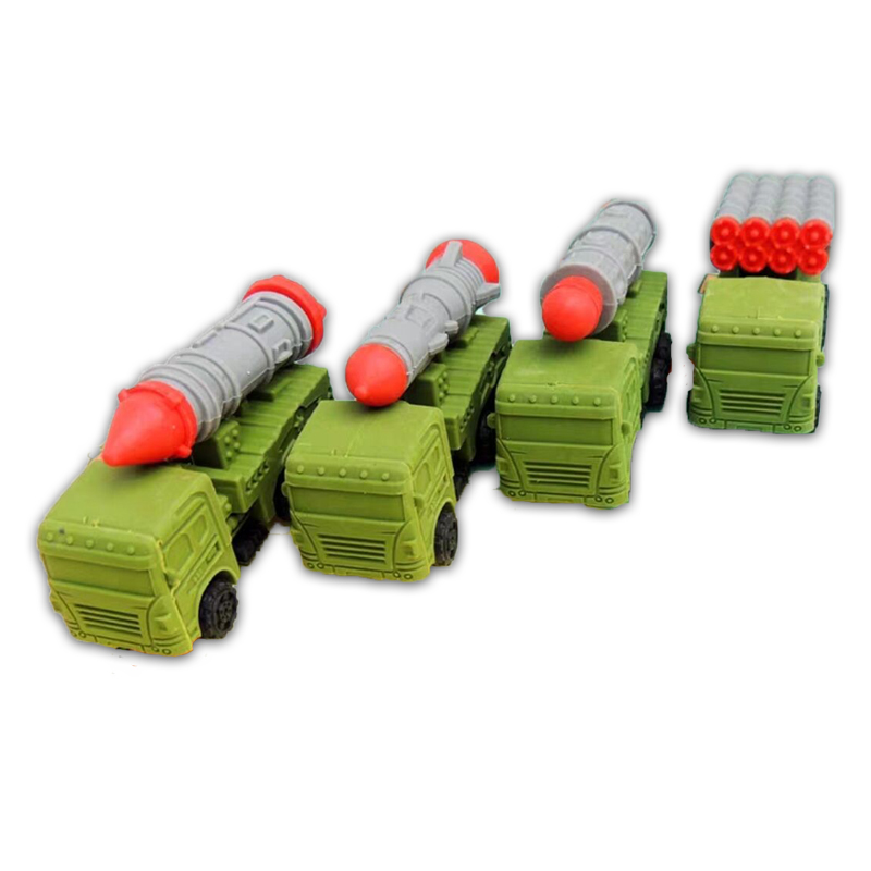 52 PCS/Lot Wholesale School Eraser Kids Toy School Stationery For Rocket Truck Shaped Eraseable Tools With Free Gifts