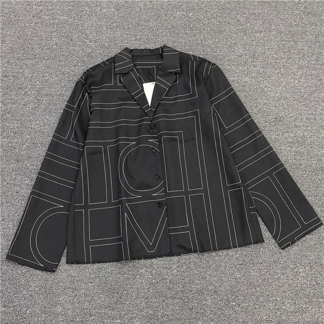 Geometric pattern women shirt tops long sleeve turn-down collar wild lady blouse