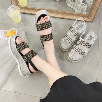 Women Sandals Shiny Rhinestones Comfortable 2020 Fashion Platform Wedge Shoes For Women Summer Sandal Shoes No Shipping