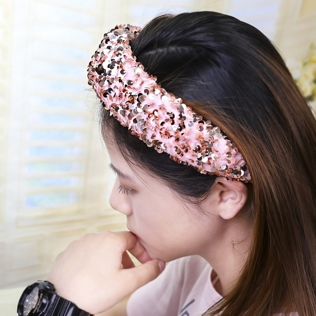 Fabric Shiny Sequin Hairband  5