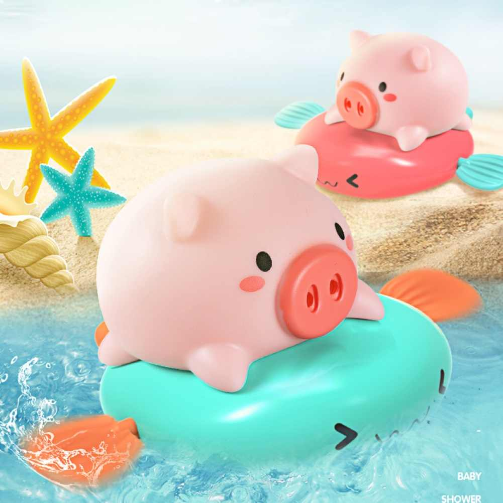 10pcs Pig Baby Kids Bath Bathing Toy Cute Rubber Spray Water Animal Pig IT