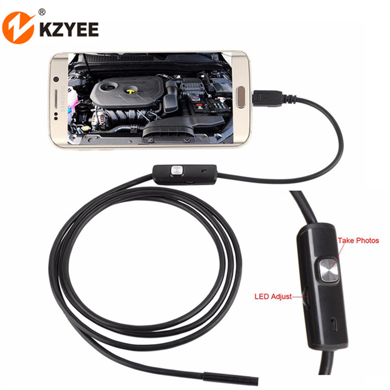 7mm Micro USB Mini Endoscope Camera 1m 1.5m 2m Soft Cable IP67 Waterproof Borescope Inspection Camera for Android Smartphone PC