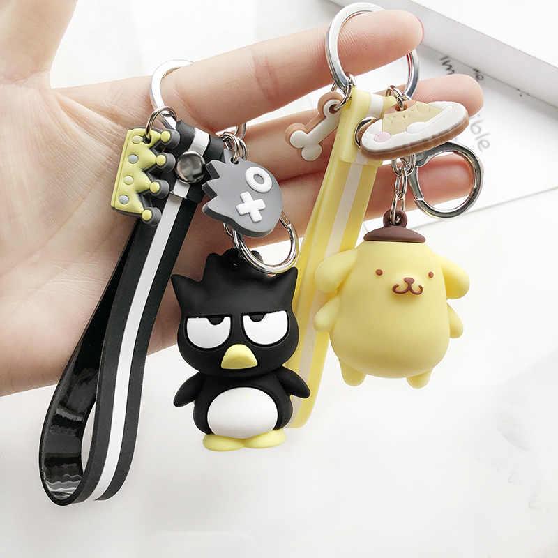 Bonito Olá kitty Mulheres chaveiro sapo dos desenhos animados KT cat chaveiros Pinguim chaveiro bolsa animal Da Jóia do anel Chave corrente chave do carro