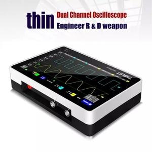 Image 4 - FNIRSI 1013D Digitale tablet oszilloskop dual kanal 100M bandbreite 1GS probenahme rate tablet digitale oszilloskop