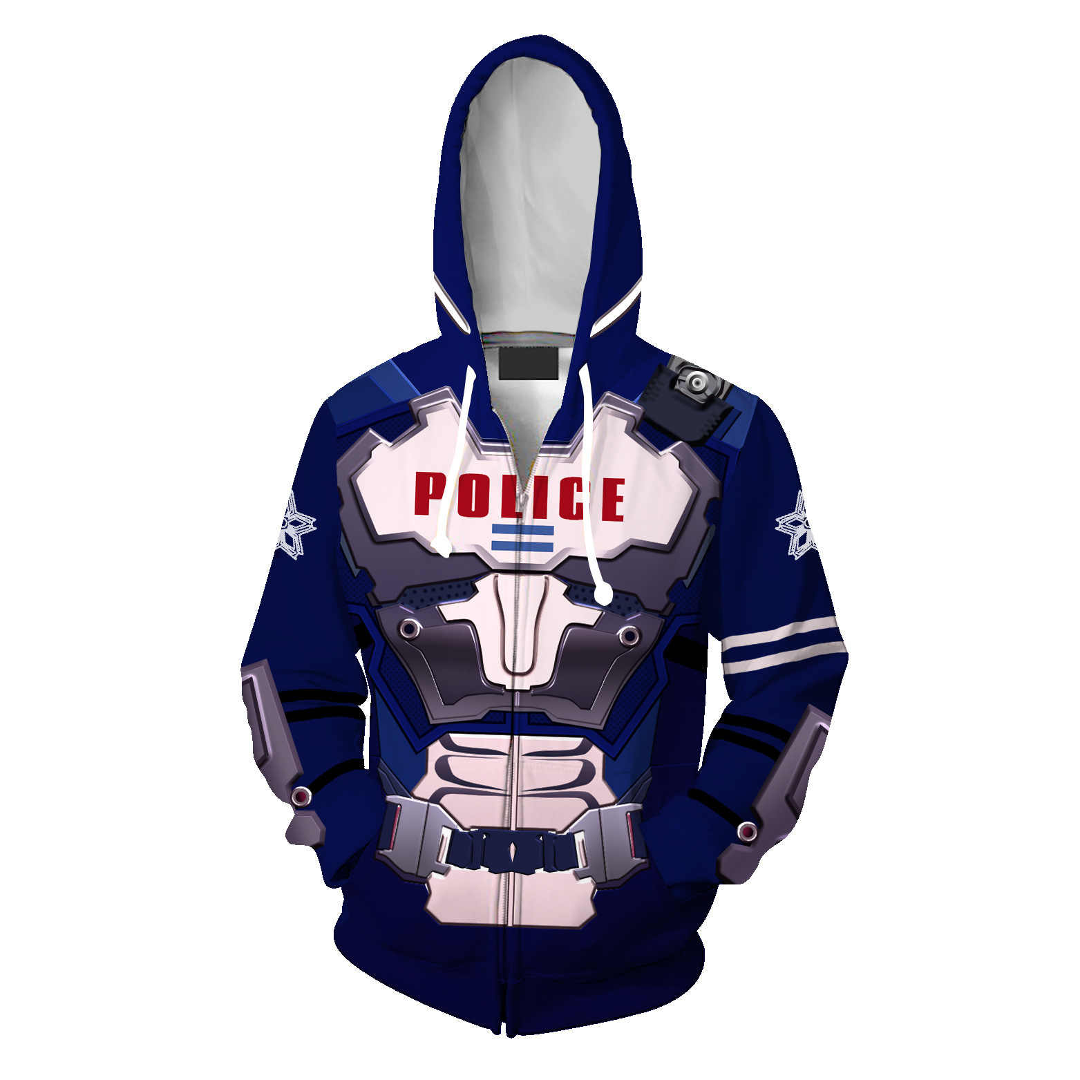 2019 New Game Astral Chain Blue Cosplay Hoodies Costumes Men Women Spring  Jacket Zipper hoodie coat S,5XL 2019 Japan Anime