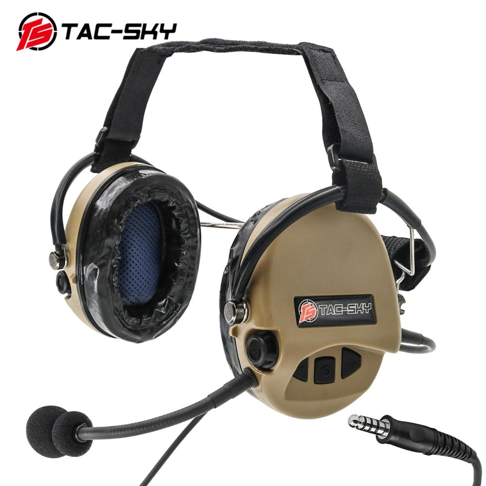 TAC-SKY TCI LIBERATOR II Neckband SORDIN Silicone Earmuffs Edition Thoradin Pickup Noise Reduction Hunting Tactical Headphones