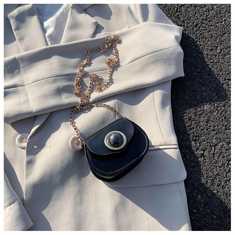 Mini Fashion Pu Soild Color Saddle Bags For Women Small Bag Leather Handbags And Lady Shoulder Bags Cross Body Bag (4)
