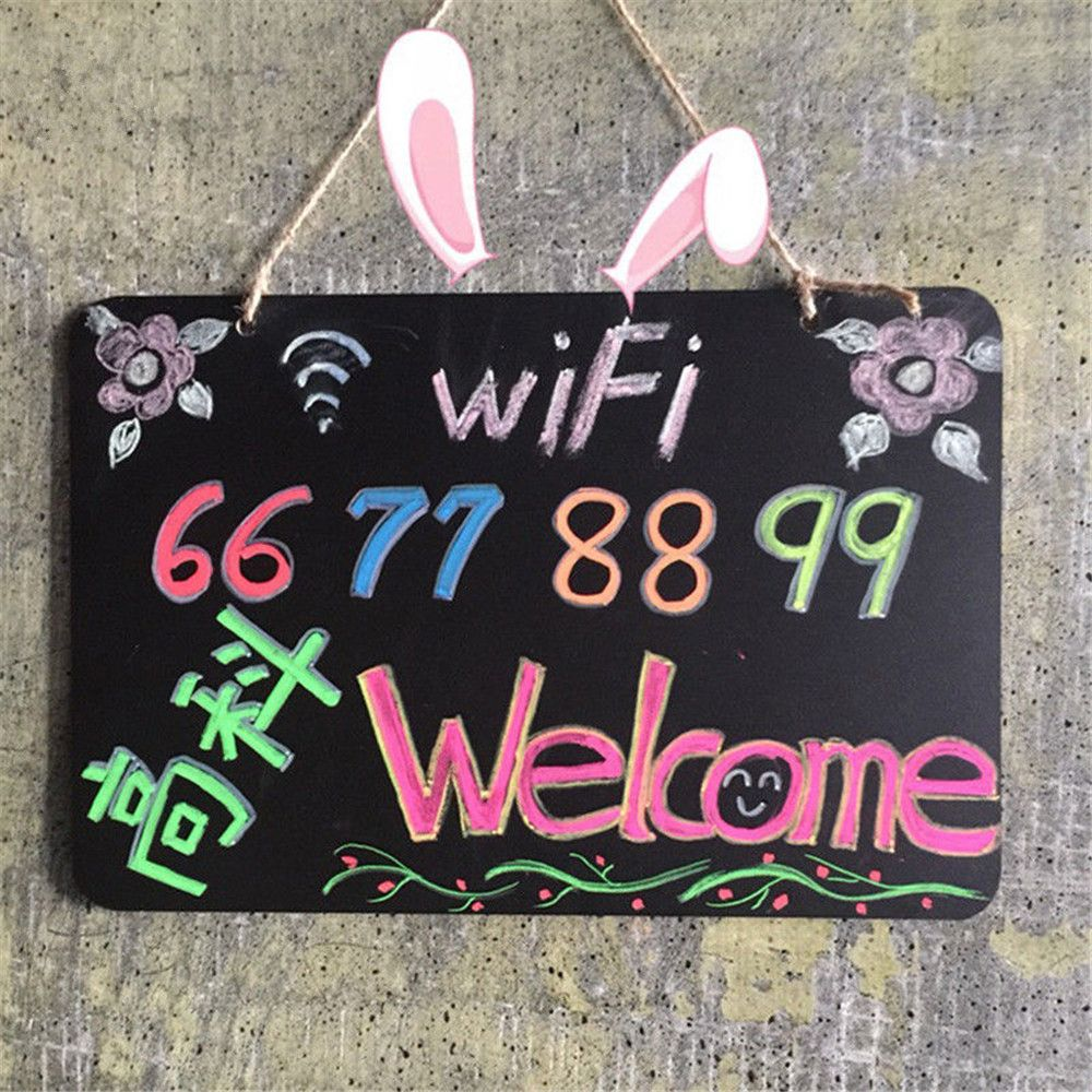 1PCS Vintage Decor Chalkboard Blackboard Message Board Hanging String Party& Wedding 18.5x8cm