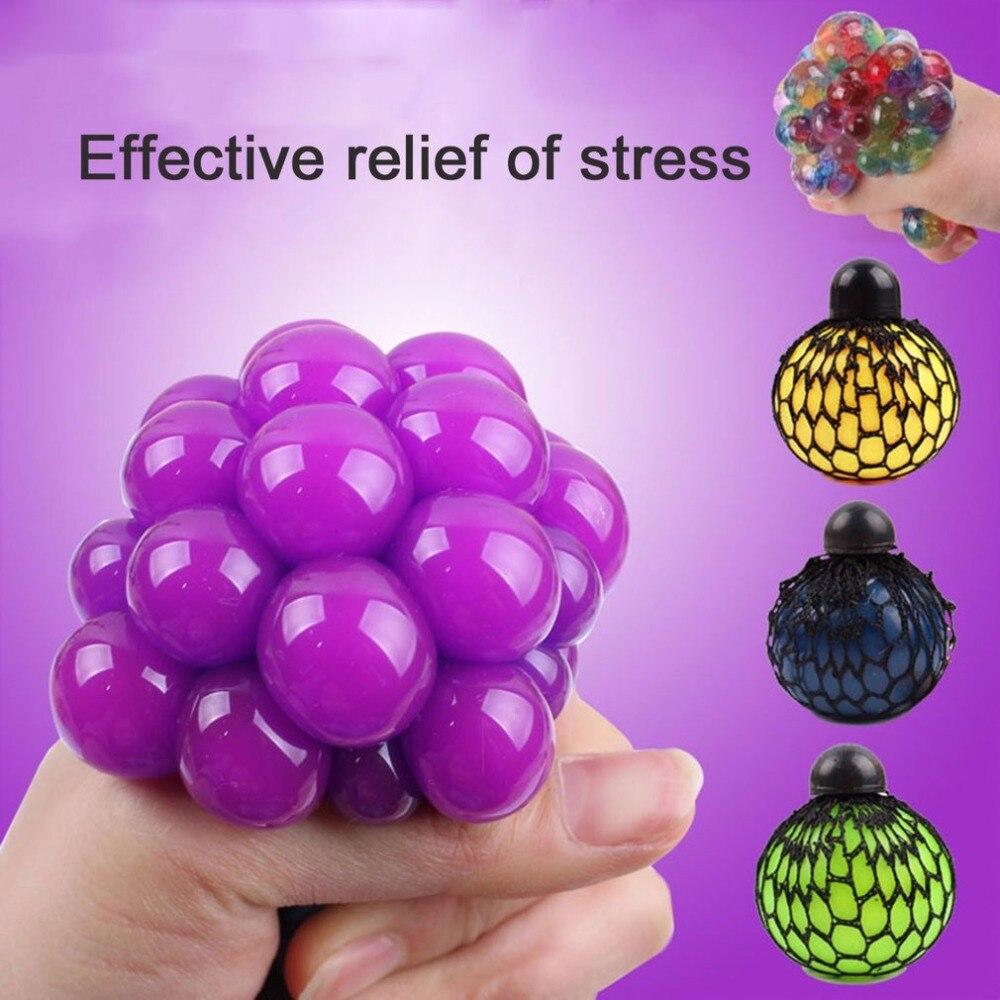 Anti Stress Suave Cara Mole Rubber Squeeze Apaziguador Do Stress Apaziguador Bola Truques de Uva Natural Saudável Brinquedo para o Miúdo Presente Do Gracejo