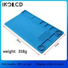 Wärmedämmung Silikon Pad Schreibtisch Matte Wartung Plattform Schraubendreher Für Handy PC Computer BGA Löten Reparatur Werkzeug