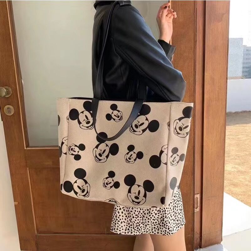 Disney girl canves shoulder bag coin bag cartoon Mickey women shoulder bag new handbag shopping bag chest bag purse