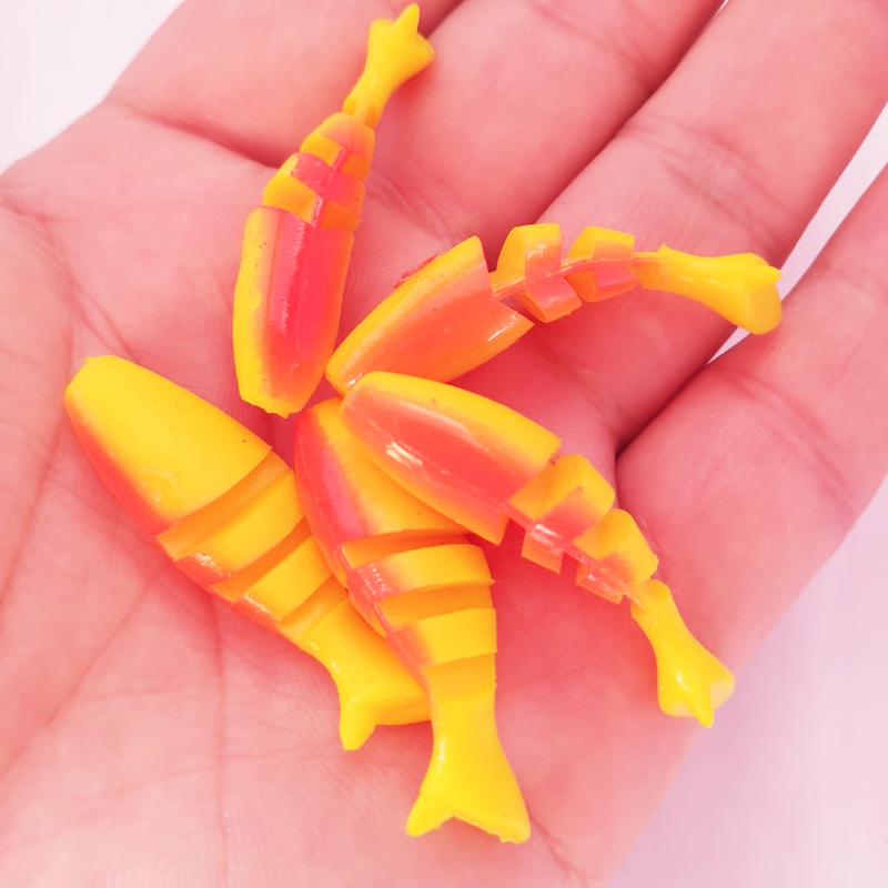 Four-section Colorful Soft Goldfish Soft Lures 50mm 2g Artificial Lures Fishing Silicone Bass Minnow Swim Jigging Baits Fishing