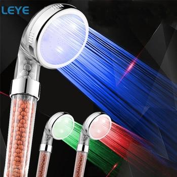 Bathroom SPA Shower Head Color Changing LED Temperature Control High Pressure Water Saving Hand Shower Head Alcachofa Ducha
