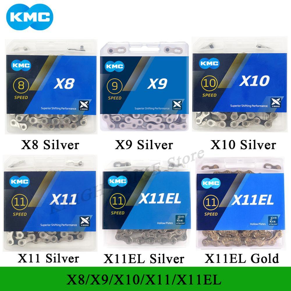 Велосипедная цепь KMC 118L X11EL X12 X11 X10 X9 Z9 велосипедная цепь 10 скоростей шоссейный MTB кривошипная система 8 9 10 11 12s переключатель горячая Распрода...
