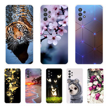 For Samsung A32 4G Case Phone Cover 6.4'' A325F Soft silicone TPU Back Covers for Samsung
