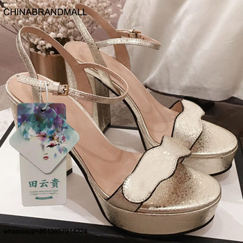 White Chunky Heel Sandals Designer Shoes Women Luxury Sandals 2020 Platform Chunky Heel Sandal фото