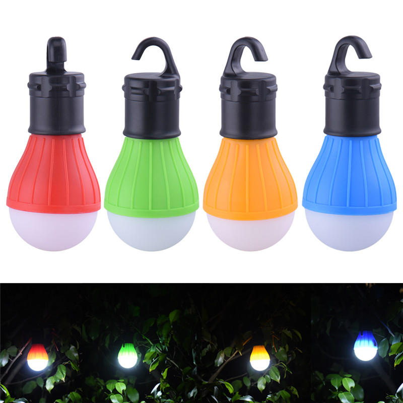 Hanging LED Camping Tent Light Mini Portable Lighting Lantern Waterproof Hanging Hook Bulb Emergency FlashLight